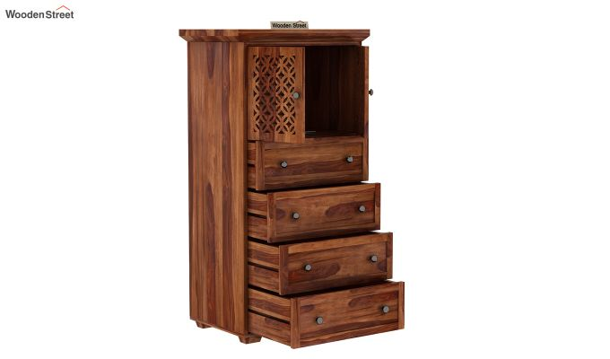 Cambrey Chest Of Four Drawer (Teak Finish)-3