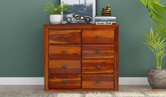 Carvel Chest of Drawers (Honey Finish)-2