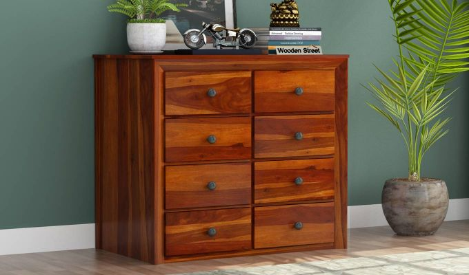 Carvel Chest of Drawers (Honey Finish)-1