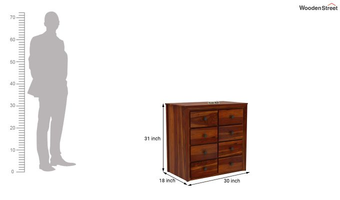 Carvel Chest of Drawers (Honey Finish)-6