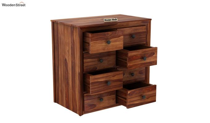 Carvel Chest of Drawers (Teak Finish)-5