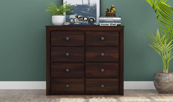 Carvel Chest of Drawers (Walnut Finish)-2