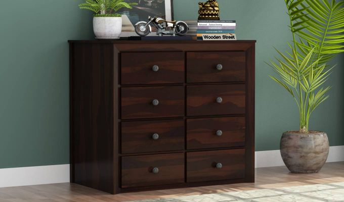 Carvel Chest of Drawers (Walnut Finish)-1