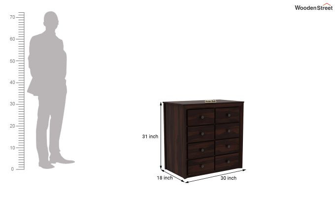 Carvel Chest of Drawers (Walnut Finish)-6