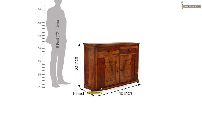 Charles Chest of Drawers (Honey Finish)-8