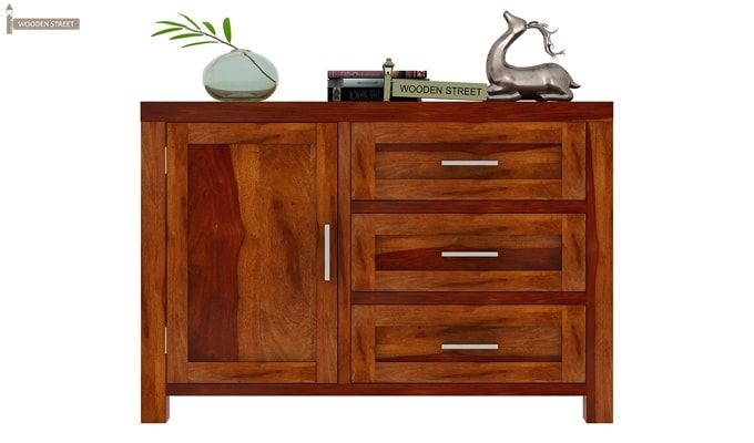 Chevron Chest of Drawers (Honey Finish)-2