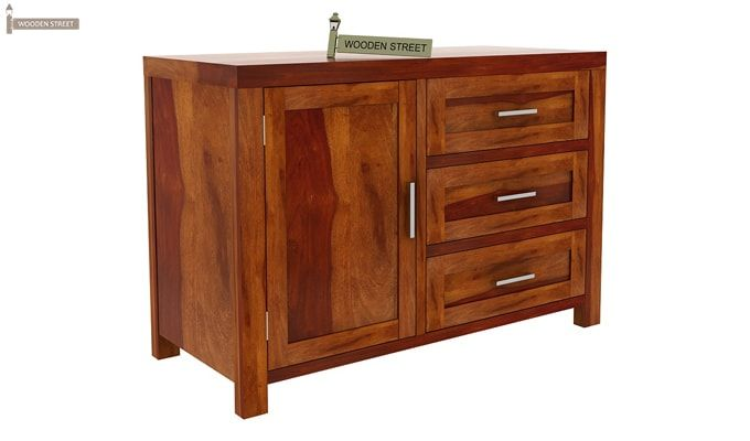 Chevron Chest of Drawers (Honey Finish)-4