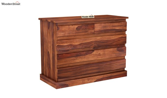 Colley Chest of Drawers (Honey Finish)-2