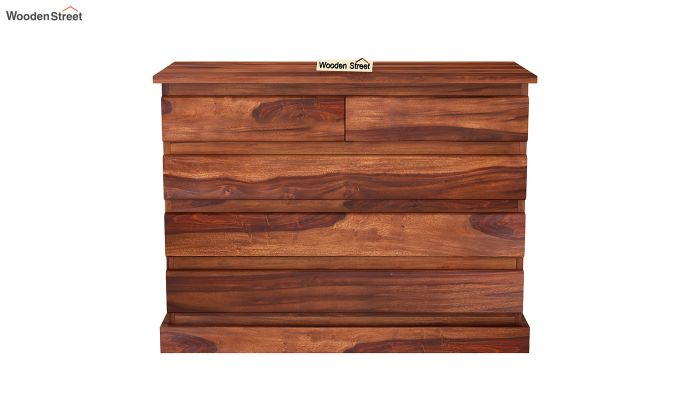 Colley Chest of Drawers (Honey Finish)-3