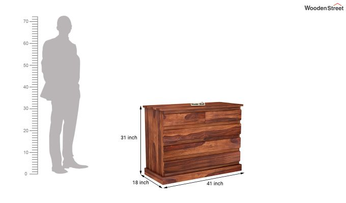 Colley Chest of Drawers (Honey Finish)-6