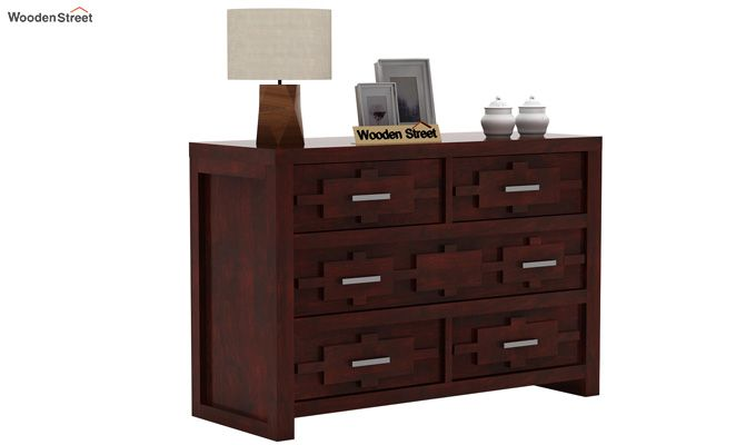Eden Chest of Drawers (Mahogany Finish)-2