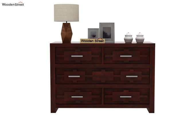 Eden Chest of Drawers (Mahogany Finish)-3