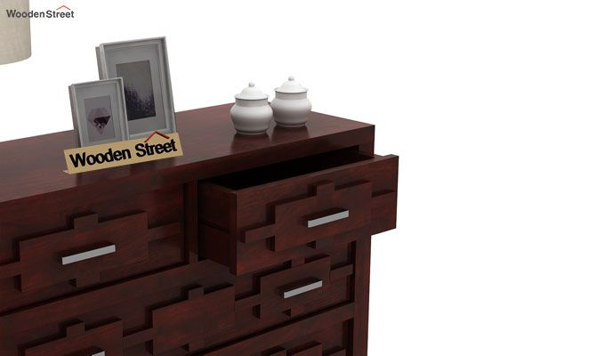Eden Chest of Drawers (Mahogany Finish)-5