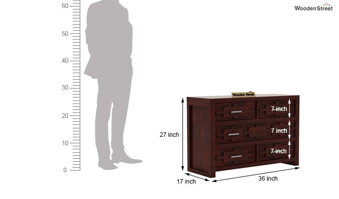 Eden Chest of Drawers (Mahogany Finish)-6