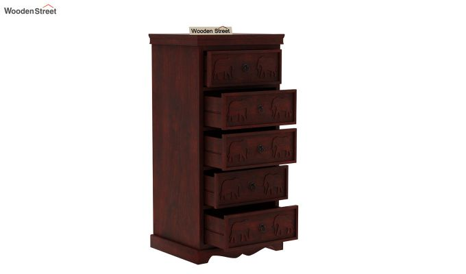Emboss Chest of Five Drawers -4