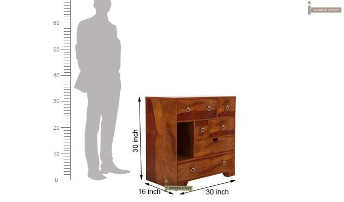 Emerson Chest of Drawers (Honey Finish)-7