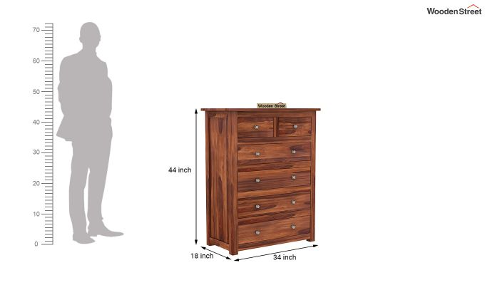 Garry Chest of Drawers (Honey Finish)-5