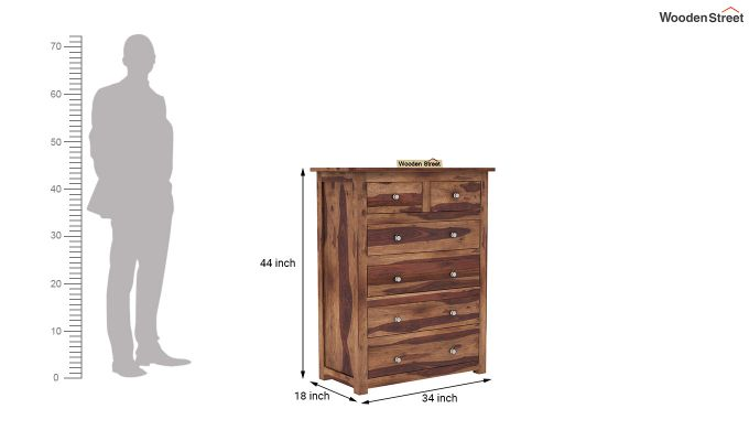 Garry Chest Of Drawers (Teak Finish)-5