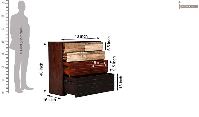 Grazor Chest of Drawers (Mahogany Finish)-8