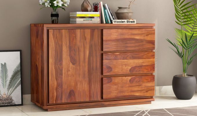 Hazeline Chest Of Drawer (Honey Finish)-1