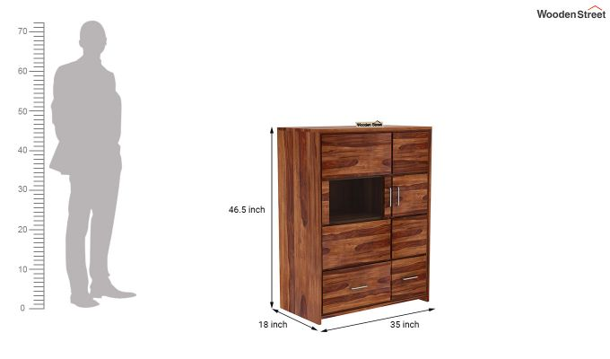 Hodor Cupboard (Teak Finish)-7