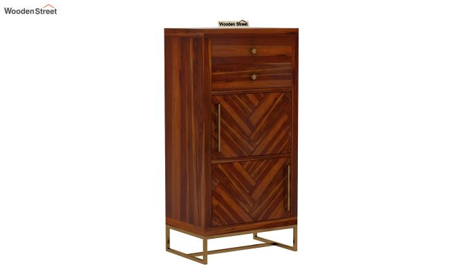 Jett Chest Of Two Drawer (Honey Finish)-3