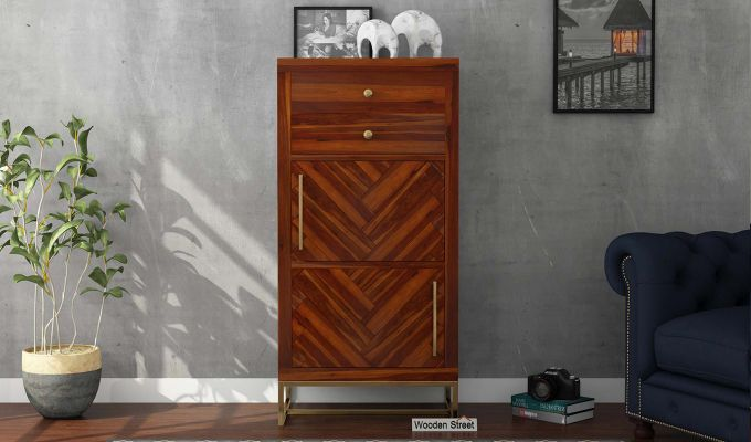 Jett Chest Of Two Drawer (Honey Finish)-2