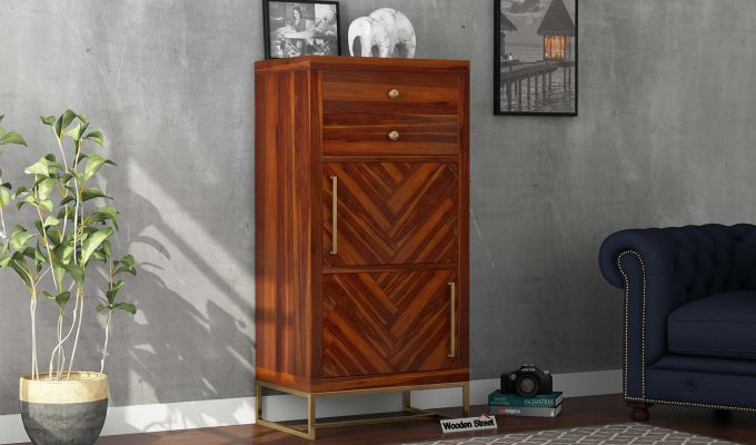 Jett Chest Of Two Drawer (Honey Finish)-1