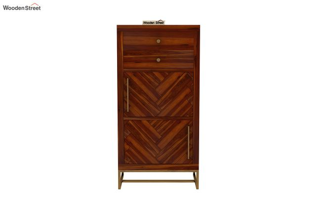Jett Chest Of Two Drawer (Honey Finish)-4