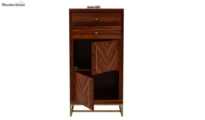Jett Chest Of Two Drawer (Honey Finish)-6