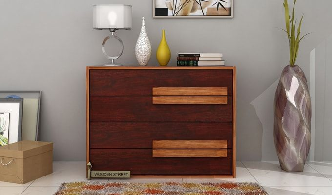 Leonara Chest of Drawers (Mahogany Finish)-1