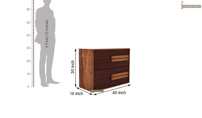 Leonara Chest of Drawers (Mahogany Finish)-7