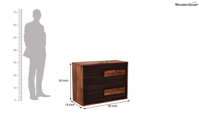 Leonara Chest of Drawers (Honey-Walnut)-5