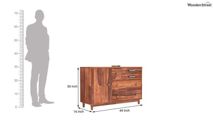 Lunesta Chest Of Drawer (Honey Finish)-5