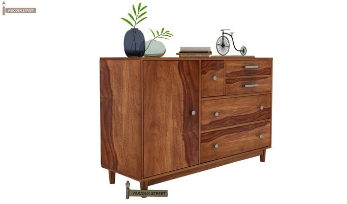 Lunesta Chest of Drawers (Teak Finish)-3
