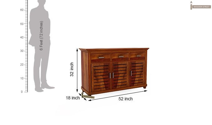 Lynet Chest of Drawers (Honey Finish)-7