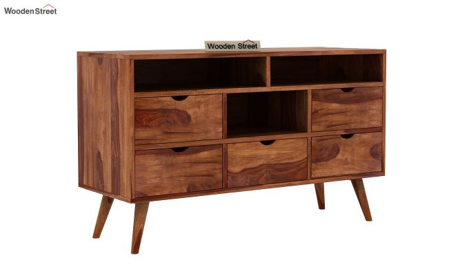 Lynton Chest of Drawer (Teak Finish)-2
