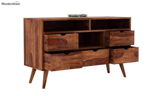 Lynton Chest of Drawer (Teak Finish)-4