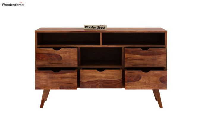 Lynton Chest of Drawer (Teak Finish)-5