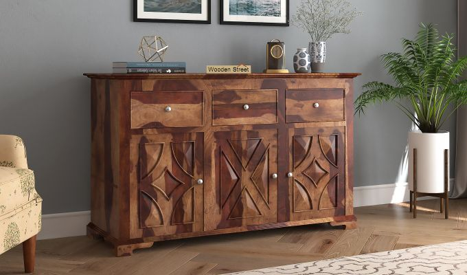 Martin Chest of Drawers (Teak Finish)-1