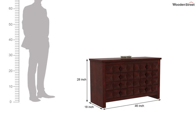 Morse Chest Of Eight Drawers (Mahogany Finish)-6