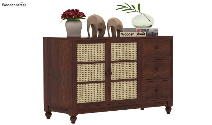 Palm Chest of Drawers (Walnut Finish)-2