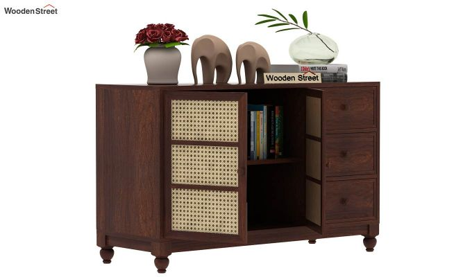 Palm Chest of Drawers (Walnut Finish)-4