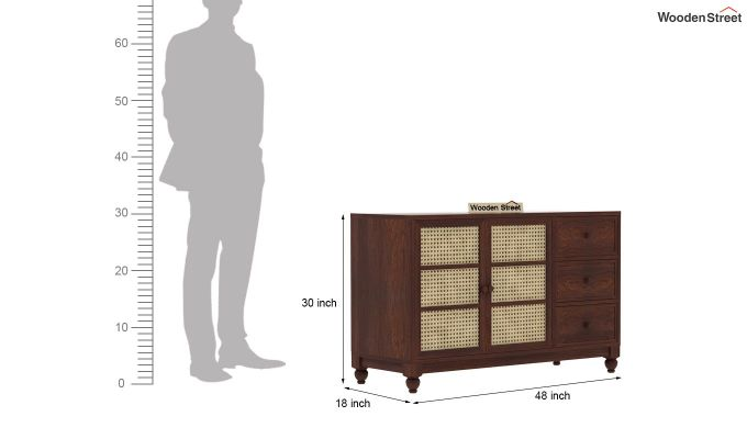 Palm Chest of Drawers (Walnut Finish)-8