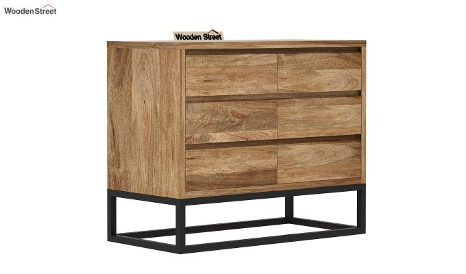 Ray Loft Chest Of Drawer (Natural Finish) (Natural Finish)-2