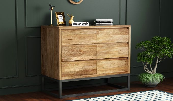 Ray Loft Chest Of Drawer (Natural Finish) (Natural Finish)-1