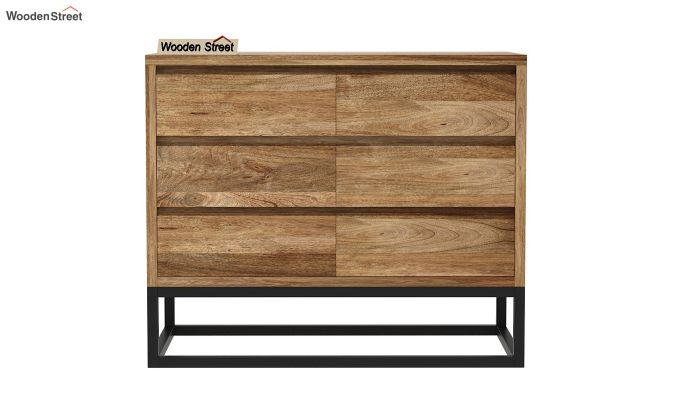 Ray Loft Chest Of Drawer (Natural Finish) (Natural Finish)-3