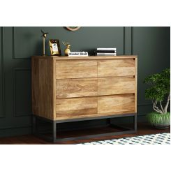 Ray Loft Chest Of Drawer (Natural Finish)