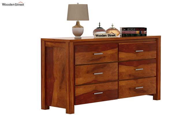 Serena Chest of Drawers (Honey Finish)-2