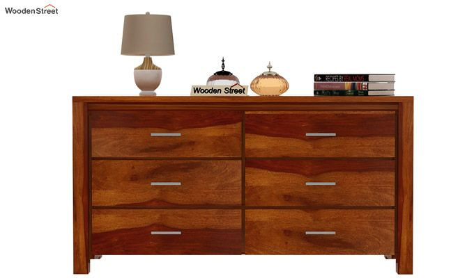 Serena Chest of Drawers (Honey Finish)-3